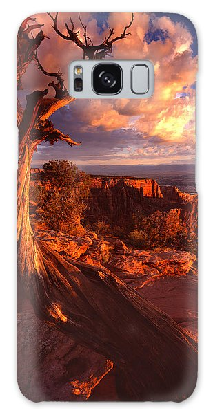 Grand View Point Sunrise Galaxy Case