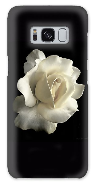 Grandeur Ivory Rose Flower Galaxy Case