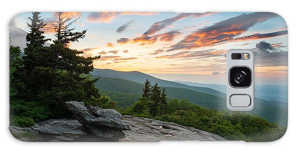Grandfather Mountain Blue Ridge Parkway Nc Beacon Heights At Sunrise Galaxy Case