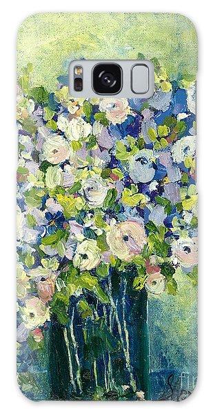 Grandma's Flowers Galaxy Case