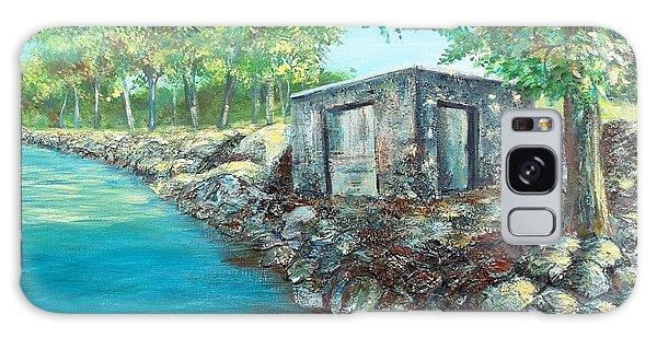 Grandpa's Boathouse Galaxy Case by Susan DeLain