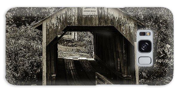Grange City Covered Bridge - Sepia Galaxy Case