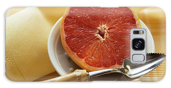 Grapefruit Half With Grapefruit Spoon In A Bowl Galaxy Case