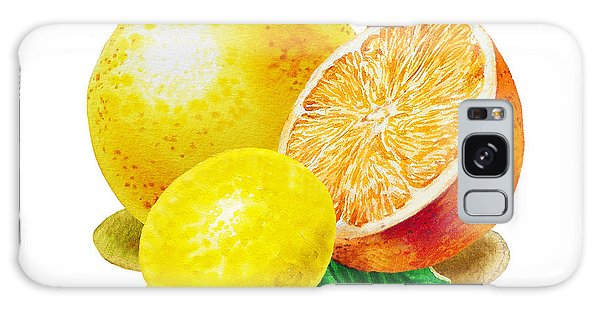 Grapefruit Lemon Orange Galaxy Case by Irina Sztukowski