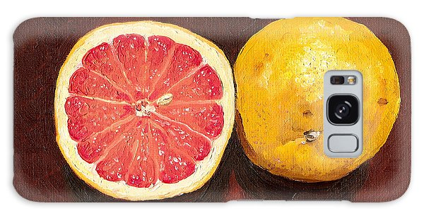 Grapefruits Oil Painting Galaxy Case by