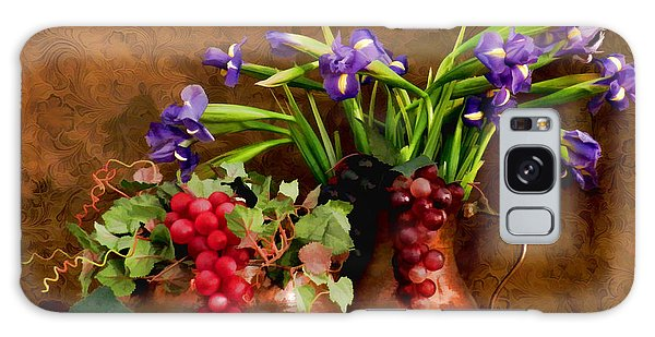 Grapes And Irises Galaxy Case