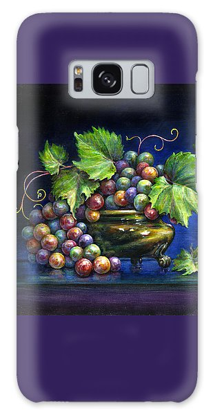 Grapes In A Footed Bowl Galaxy Case by Jane Bucci