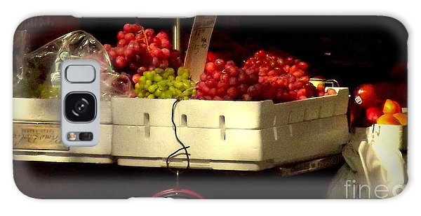 Grapes With Weighing Scale Galaxy Case by Miriam Danar