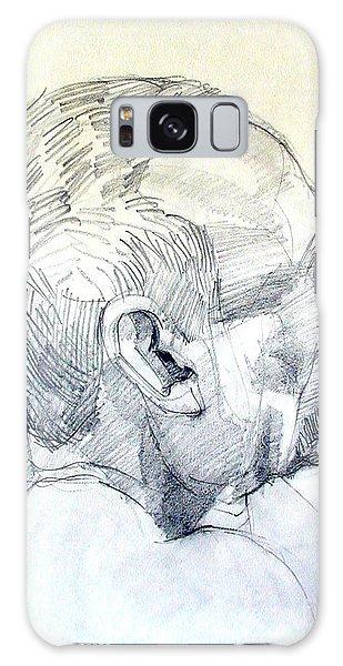 Graphite Portrait Sketch Of A Man In Profile Galaxy Case