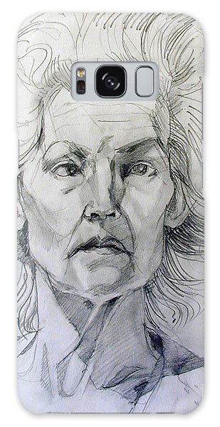 Graphite Portrait Sketch Of A Well Known Cross Eyed Model Galaxy Case