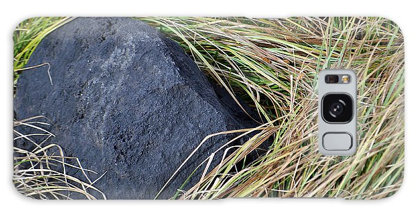 Grass And Volcanic Rock In Yellowstone National Park Galaxy Case
