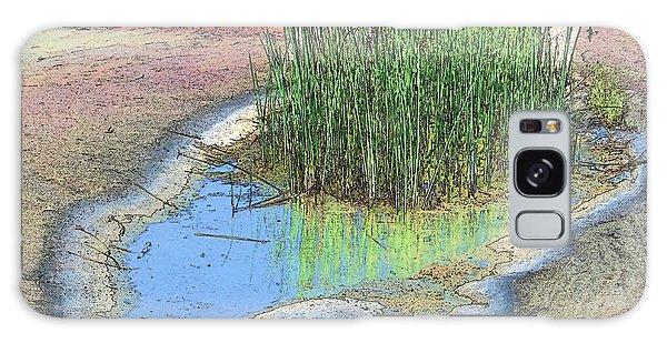 Grass Growing On Rocks Galaxy Case