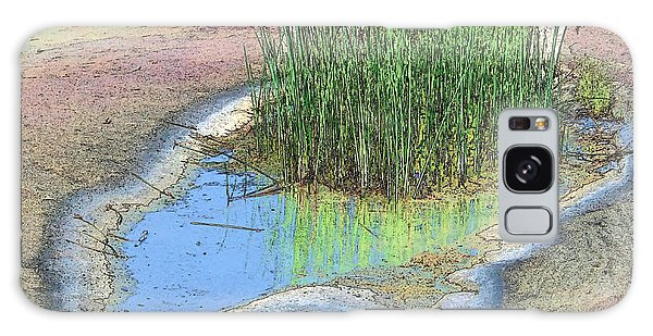 Grass Growing On Rocks Galaxy Case by Teresa Zieba