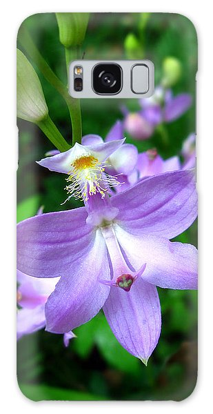 Grass Pink Orchid Galaxy Case