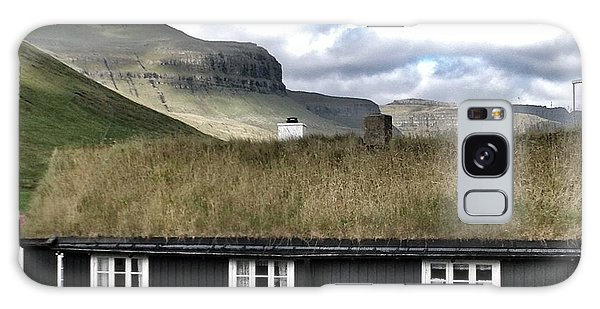 Grass Roof House In Faroe Islands Galaxy Case