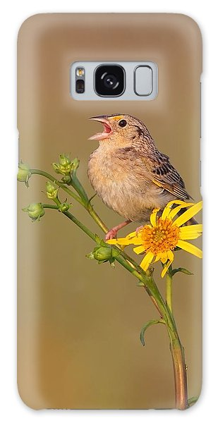 Grasshopper Sparrow Singing Galaxy Case