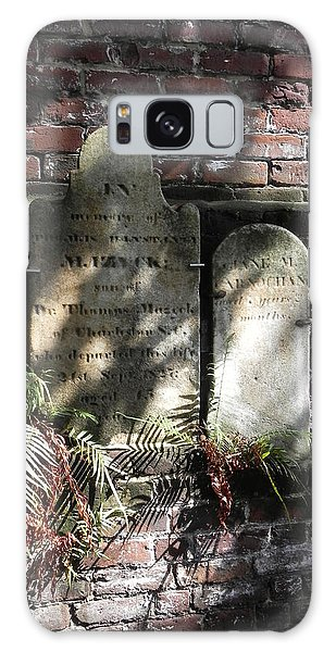 Grave Stones With Fern Galaxy Case by Patricia Greer