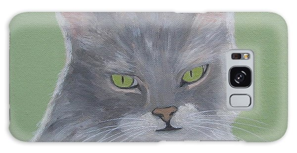 Cat With Green Eyes  Galaxy Case