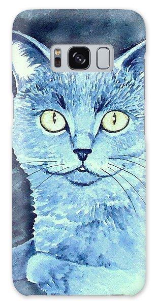 Gray Cat Galaxy Case