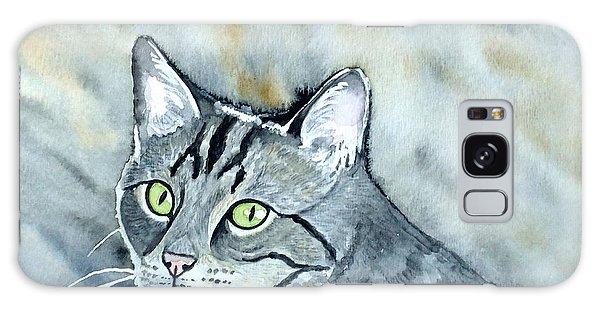 Gray Tabby Cat Galaxy Case