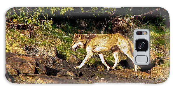 Whining Galaxy Case - Gray Wolf by Robert Bales