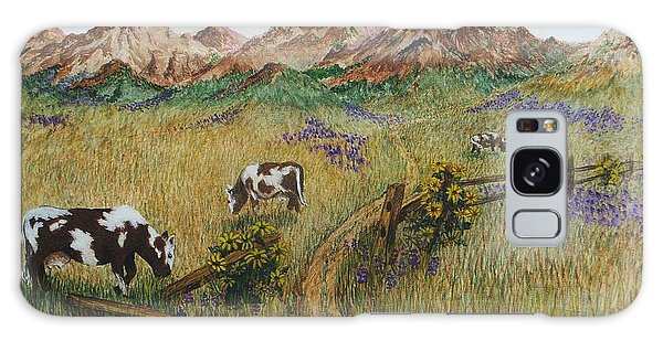 Grazing Cows Galaxy Case by Katherine Young-Beck