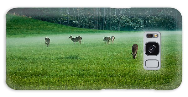 Grazing Deer Galaxy Case by Jay Stockhaus