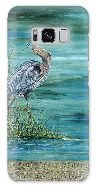 Herons Galaxy Case - Great Blue Heron  2 by Jean Plout