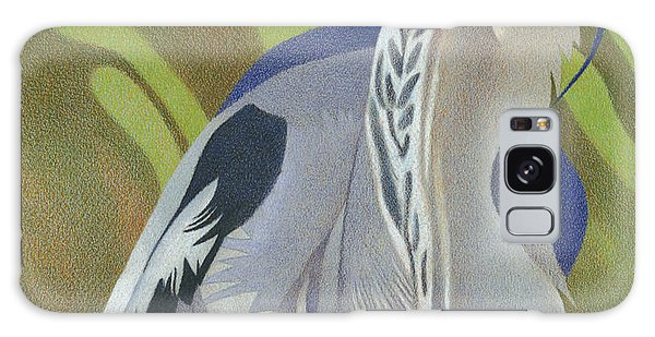 Great Blue Heron Galaxy Case