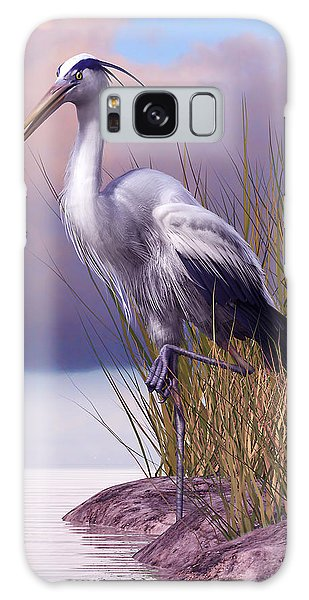 Herons Galaxy Case - Great Blue Heron by Gary Hanna