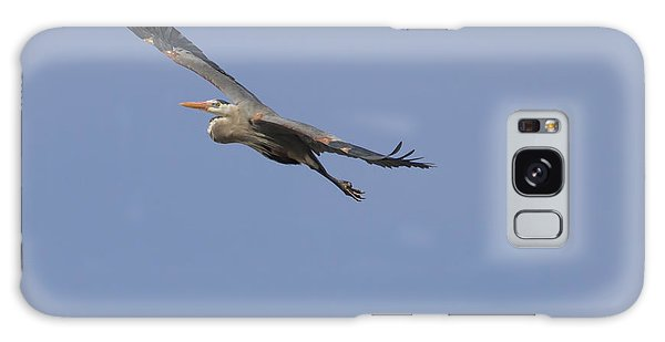 Great Blue Heron In Flight-2 Galaxy Case