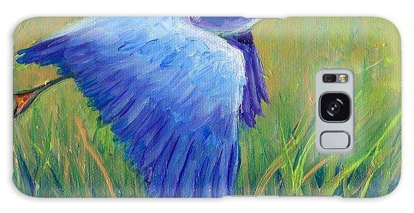 Great Blue Heron Mini Painting Galaxy Case by Doris Blessington