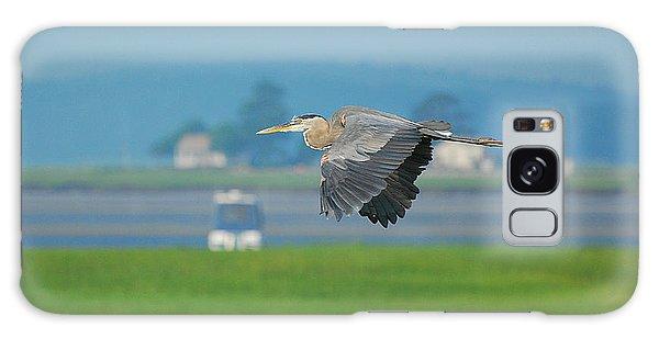 Great Blue Heron Galaxy Case by Nancy Landry