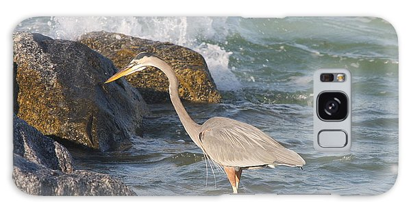 Great Blue Heron On The Prey Galaxy Case by Christiane Schulze Art And Photography
