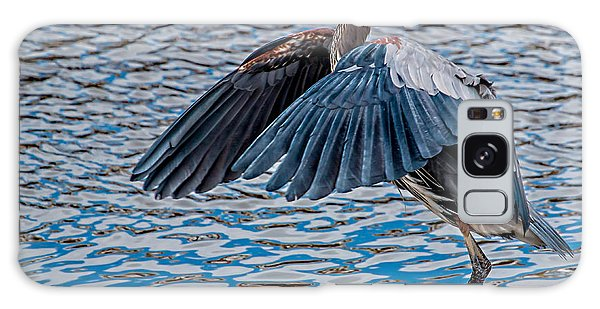 Great Blue Heron Pose Galaxy Case