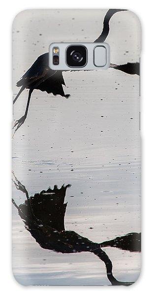 Great Blue Heron Takeoff Galaxy Case