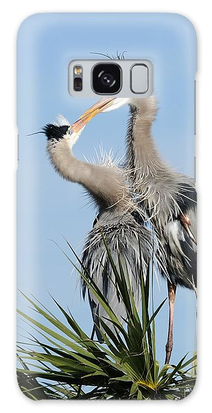 Great Blue Herons At Nest Kissing Galaxy Case