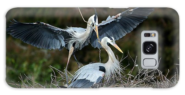 Great Blue Herons Nesting Galaxy Case