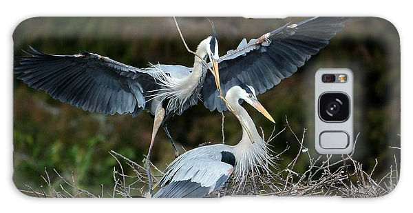 Great Blue Herons Nesting Galaxy Case