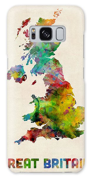 Scotland Galaxy Case - Great Britain Watercolor Map by Michael Tompsett