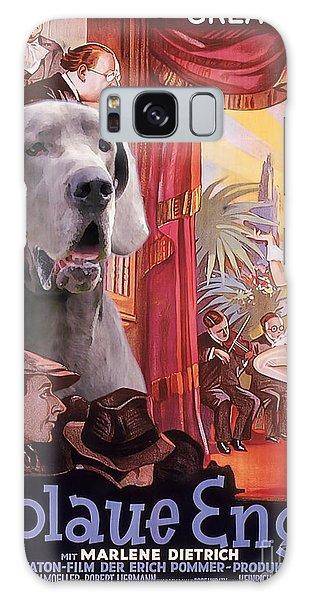 Great Dane Art Canvas Print - Der Blaue Engel Movie Poster Galaxy Case