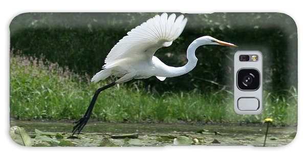 Great Egret Elegance   Galaxy Case by Neal Eslinger
