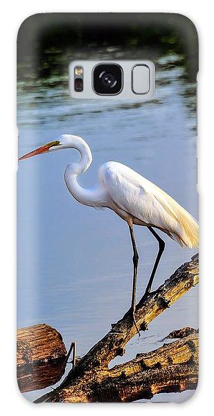 Great Egret Fishing Galaxy Case