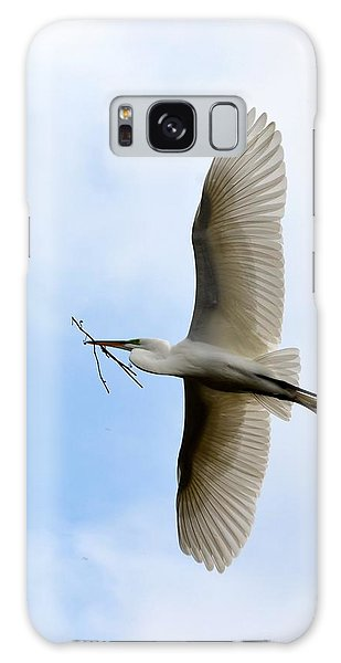 Great Egret In Flight Galaxy Case by Richard Bryce and Family