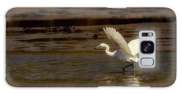 Great Egret Taking Off Galaxy Case