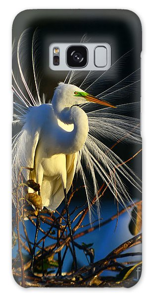 Great Egret With Breeding Plumage 1 Galaxy Case by Jane Axman