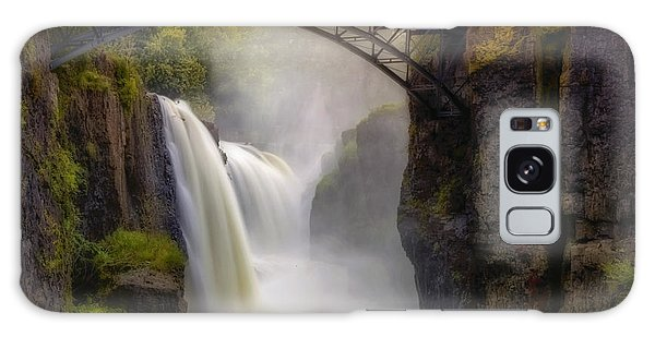 Galaxy Case featuring the photograph Great Falls Mist by Susan Candelario