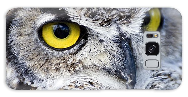Great Horned Closeup Galaxy Case