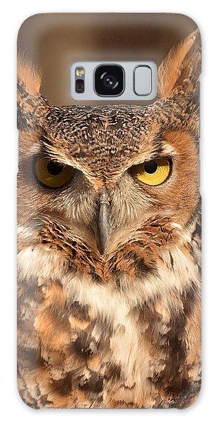 Great Horned Owl Galaxy Case by Nancy Landry