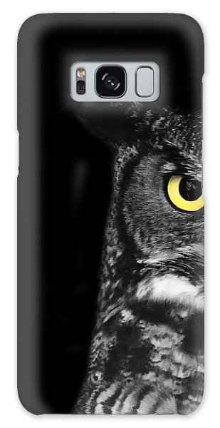 Great Horned Owl Photo Galaxy Case